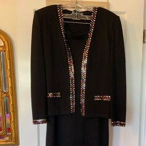 St.John Knit Skirt and Jacket- Women's Vintage
